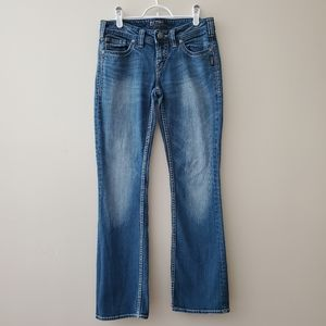 Aiko Bootcut Silver Jeans